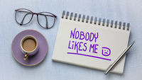 nobody like me - depression concept