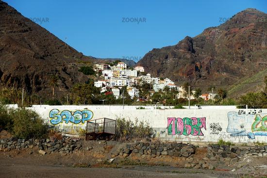 Blick auf den Ferienort Valle Gran Rey, La Gomera