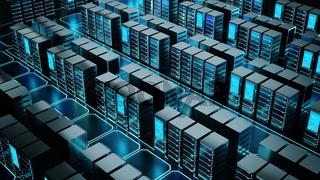 Internet Server room or super computer concept