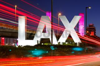 Los Angeles International Airport LAX Logo sign