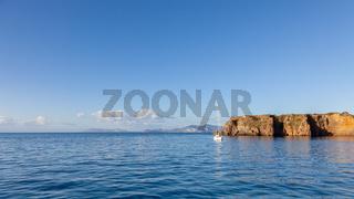 sailing boat at Lipari Islands Sicily Italy