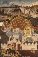 White castles in Wat Phra Kaew murals