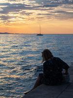 Zadar Sonnenuntergang am Meer