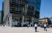Milan, Italy - 30 June 2019: View of Building of BNL Paribas Bank