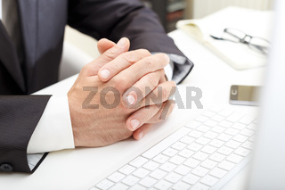 Businessman at the meeting