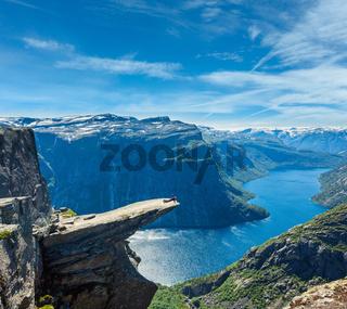Trolltunga summer view, Norway.