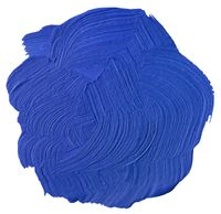 Blue Paint Blot Cutout
