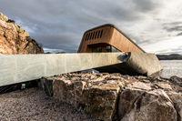 Lindesnes, Norway - October 2019: Exterior of underwater restaurant Under.