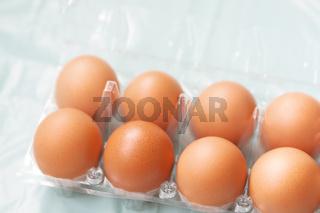 Transparent plastic eggs package