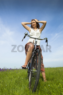 Girl with a bicycle
