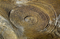 Steingeschnitzte Kuppel in der orthodoxen Felsenkirche Mikael Mellehayzengi, Tigray, Ãthiopien