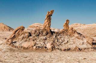 Beautiful salt sculptures in Atacama desert, Chile