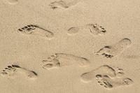 Fußspuren im Sand