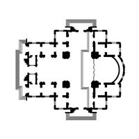 Architectural design of The Christian Orthodox Church, The Medieval Monastery Temple. The construction project of The Cathedral.