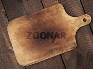 old empty wooden rectangular cutting board, top view