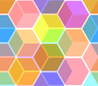 Seamless hexagonal background in soft pastel colors.