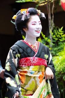 Young Maiko Geisha in Kyoto Japan
