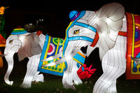 Dragon Lights Albuquerque, Elephant Silk lanterns. Chinese traditional art celebrates the Chinese New Year