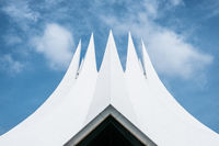 The roof of the Tempodrom (also referred to as Neues Tempodrom), a multi-purpose event venue in  Berlin