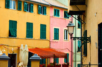 Old street in Boccadasse district in Genoa