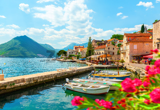 City Perast in Bay