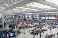 Shanghai Hongqiao railway train station in China