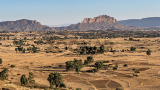 Landscape in Gheralta in Tigray, Northern Ethiopia.