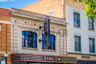 A Beaux Arts style theater in Bozeman, Montana