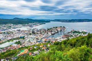 Blick auf die Stadt Bergen in Norwegen