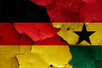 flags of Germany and Ghana
