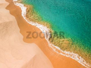 Beach shorelines, wavy textures ocean blues