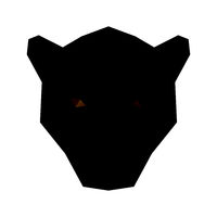 Low poly illustration. Panther