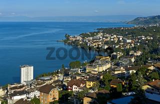 Montreux am Genfersee, Waadt, Schweiz