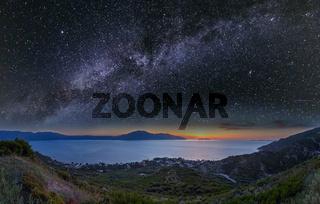Adriatic sea night view, Orikum, Albania
