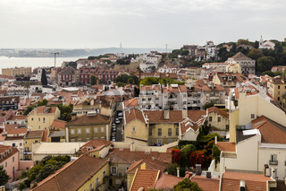 Blick auf die Altstadt, Lissabon, Portugal, view of the old town, Lisbon, Portugal