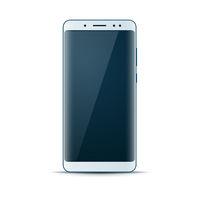 Realistic 3d smartphone, digital gadget icon.