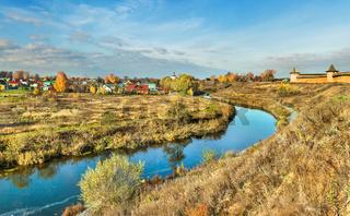 Spring landscape of Suzdal.