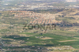 aerial scenery in Sicily
