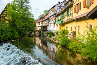 Waterfront Half-Timbered Houses Kaysersberg France