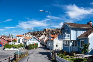 Blick auf die Stadt Fjällbacka in Schweden