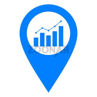 Diagramm und Kartenmarkierung - Chart and location pin