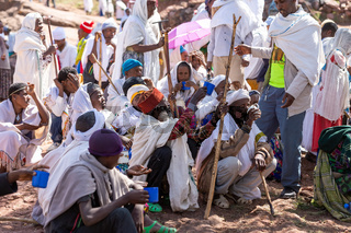 Orthodox Christian Ethiopian believers, Lalibela Ethiopia