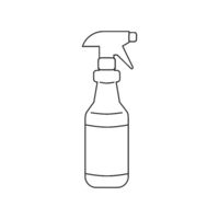 Spray Bottle Icon Vector