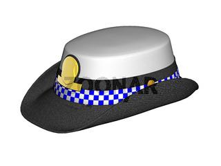weiblicher Polizeihut aus England