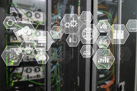 Technology infrastructure cloud technology and communication. Datacenter