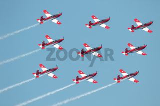 Swiss air force PC-7 Team