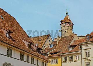 Altstadt mit Munot Schaffhausen, Schweiz
