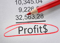 Profit text accounting numbers