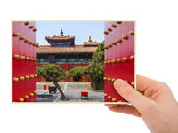 Hand and Lama Yonghe Temple in Beijing China (my photo)