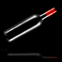 flying, bottle, wine, black background, reflection, alcohol, drink,